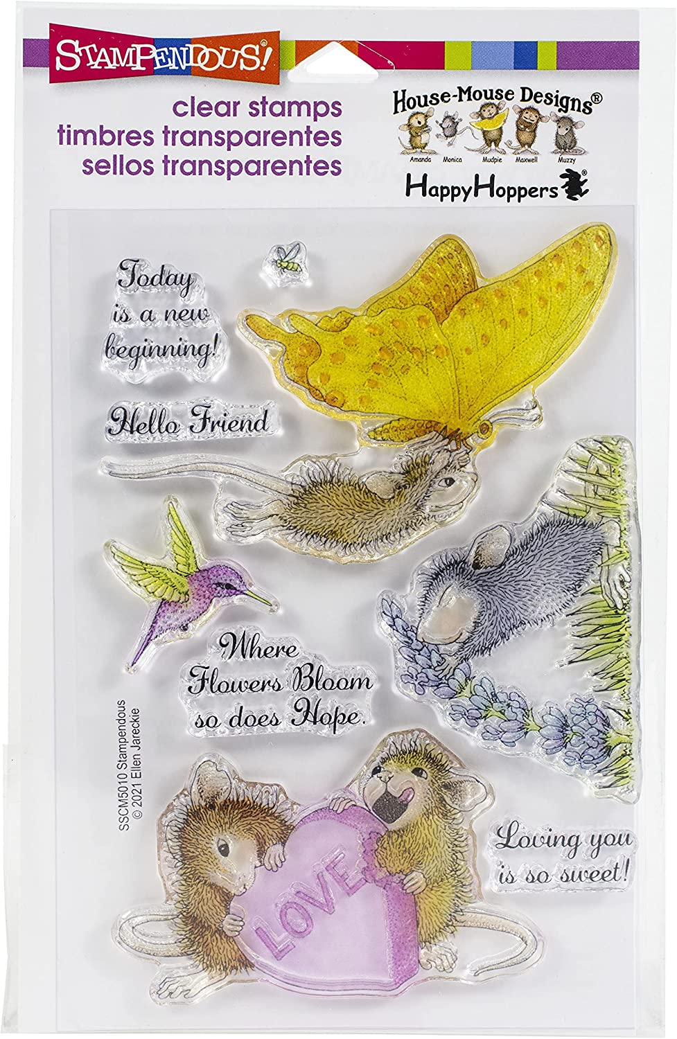 Stampendous Clear STMPDS HSE MSE BEGINN New Gorgeous Award-winning store