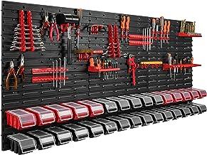 178 x 78 cm wandrek 30 opbergbakken deksel gereedschapshouder stapelboxen werkplaats werkbank