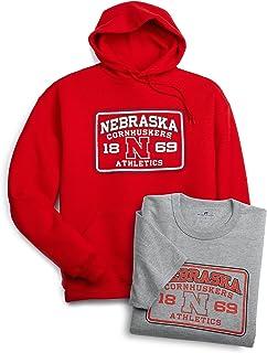 Russell Athletic Men's Logo Tee and Sweatshirt, Nebraska