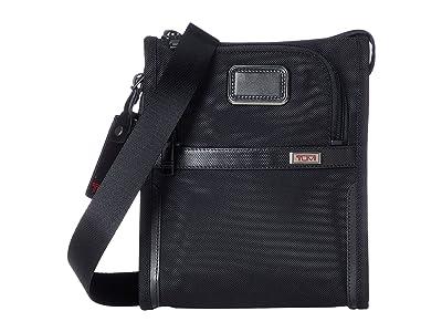 Tumi Alpha 3 Pocket Bag Small (Black 1) Handbags