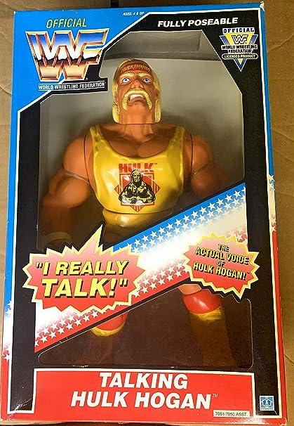 Amazon.com: WWF Talking 12 inch Hulk Hogan by Hasbro : Toys & Games