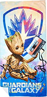 "Marvel Guardians of The Galaxy 2 Tangled Groot Cotton Bath, Pool, Beach Towel, 28"" x 58"""