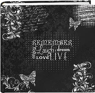 Pioneer Photo Albums EV-246CHLK/R 200-Pocket Chalkboard Printed Remember Theme Photo Album for 4 by 6-Inch Prints