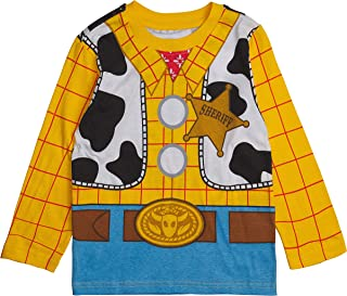 Toy Story Long Sleeve Costume T-Shirt - Buzz Lightyear, Sheriff Woody - Boys, Girls, Unisex Sizing