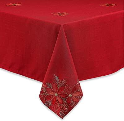 Rectangular 60x95 inch EasyNappes Tablecloth Pois Grey Anti-Stain