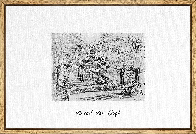 SIGNLEADER Framed Canvas Print Wall Art wi Garden in 期間限定の激安セール Lane 毎日激安特売で 営業中です Public