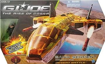 G.I. Joe The Rise of Cobra Desert Battle Sand Serpent Jet with Star Viper Action Figure