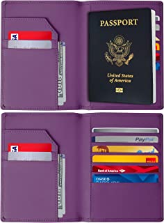 RFID Blocking Passport Holder – Genuine Leather RFID Passport Holder – Slim Passport Wallet Cover Case