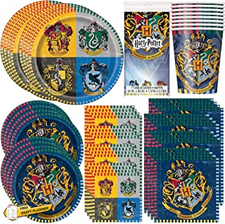 Unique Party Bundle Featuring Harry Potter | Luncheon & Beverage Napkins, Dinner & Dessert Plates, Table Cover, Cups | Gre...