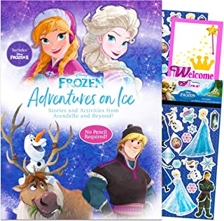 Disney Frozen Activity Book Set Frozen Book for Girls - Disney Frozen Activity Book for Toddlers Kids with Frozen Stickers...