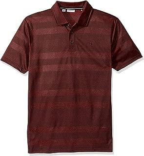 Calvin Klein Men's Short Sleeve Shadow Stripe Polo
