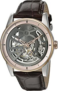 Men's 'Automatic' Automatic Stainless Steel and Leather Dress Watch