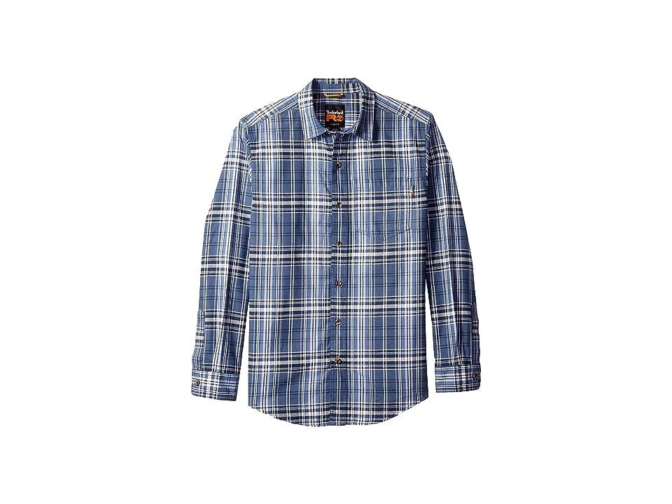 Timberland PRO R-Value Flannel Work Shirt (Hampton Plaid Vintage Indigo) Men