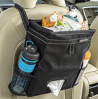 High Road Puff'nStuff Car Trash Bag Organizer and Tissue Holder (Black)