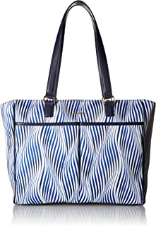 Vera Bradley Uptown Baby Messenger Bag, Wavy Stripe Navy, One Size