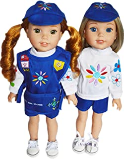 Brittany's My Daisy Girl Scouts Outfit Compatible with Wellie Wisher , Glitter Girl Dolls and Hearts-Hearts Dolls