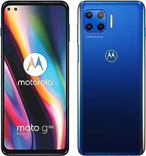 "Motorola Moto G 5G Plus - Smartphone de 6.7"" (5G FHD+, procesador Qualcomm Snapdragon SD765, sistema de 4 cámaras de 48 MP, batería de 5000 mAH, Dual SIM, 6/128 GB, Android 10), Azul"