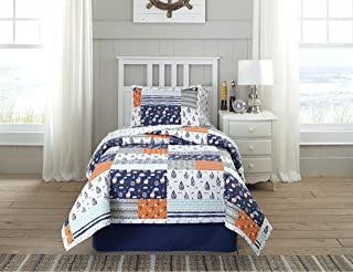 Lullaby Bedding Away at Sea Full/Queen Percale Quilt Set