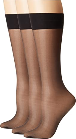 Calvin Klein Sheer Knee Highs 3-Pair Pack