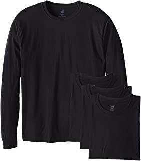 Hanes Men's 4 Pack Long Sleeve ComfortSoft T-Shirt