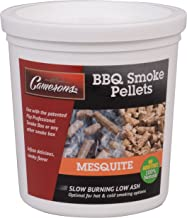 Camerons Smoking Wood Pellets (Mesquite)- Kiln Dried BBQ Pellets- 100% All Natural Barbecue Smoker Chips- 1 Pint Bucket