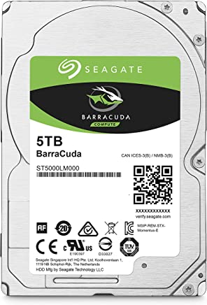 $139 Get Seagate BarraCuda 5TB Internal Hard Drive HDD – 2.5 Inch SATA 6Gb/s 5400 RPM 128MB Cache for Computer Desktop PC (ST5000LM000)