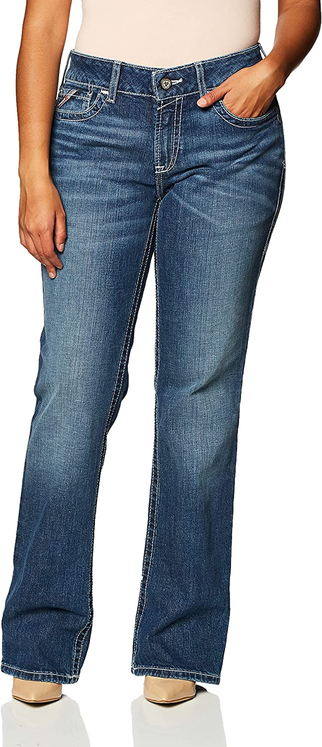 Ariat FR DuraStretch Entwined Boot Cut Jeans - Women's Comfortable Denim