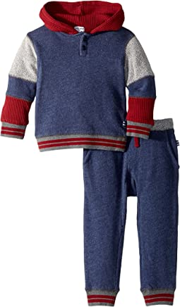 Splendid Littles - Mixed Fabric Hoodie Set (Infant)