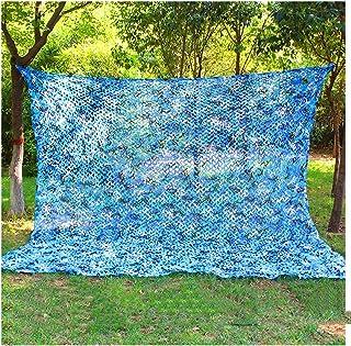 Red de Camuflaje Azul, Malla de Camuflaje Del Ejército Azul Redes de Malla Ligero Red Sombra Terraza para Jardín Yarda Int...