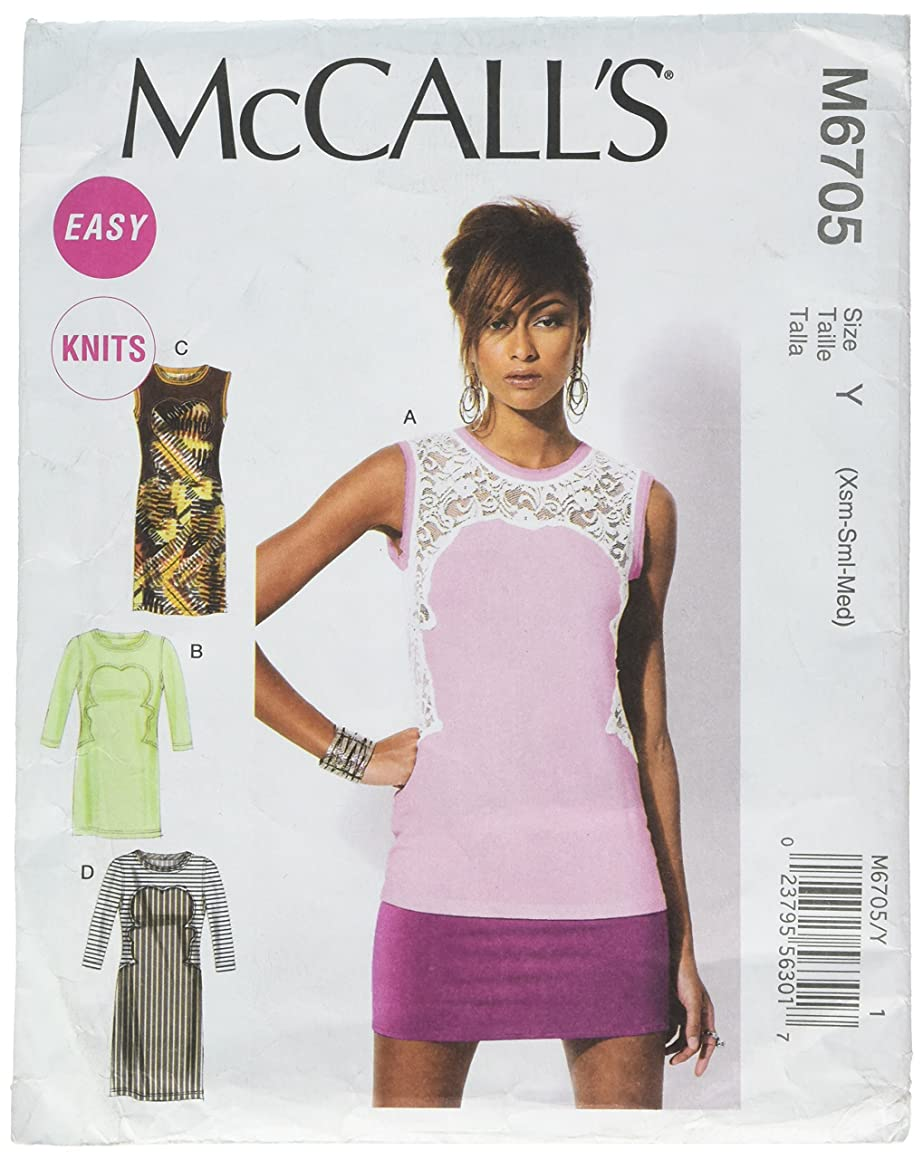 McCall Patterns M6705 Misses' Tops and Tunics Sewing Template, Size Y (XSM-SML-MED)