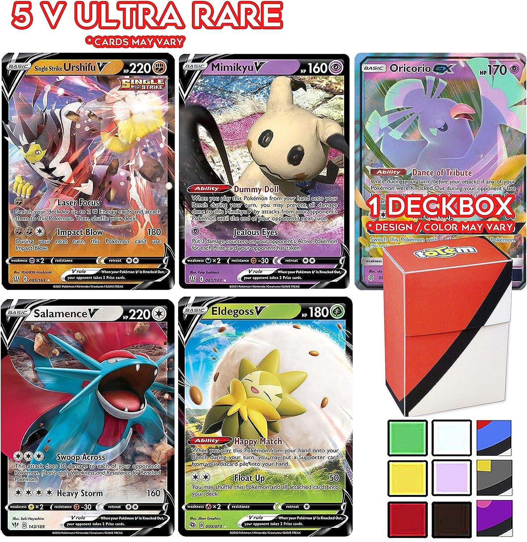Totem World Pocket Monster 5 V Ultra Rare Card Guaranteed with Deck Box