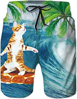 3c335c434d TUONROAD Mens Swimming Trunks 3D Print Pineapple Cat Shark Funny Pattern  Swim Shorts Quick Drying Holiday