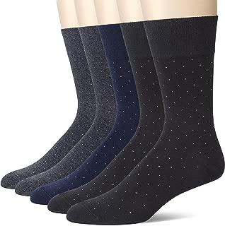 u&i Men's Dress Socks in Supima Cotton 5 Pack Crew Socks for Shoes size 7-12