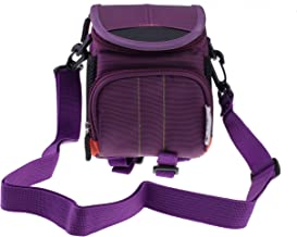 Navitech Purple Flash Speedlite Case Bag Compatible with The Canon Speedlite 470EX-AI (with Shoulder and Belt Strap)
