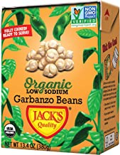 Jack's Organic Garbanzo Beans – Packed with Protein & Fiber, Heart Healthy, Low Sodium, Non GMO, BPA Free, Ready-to-eat, 1...