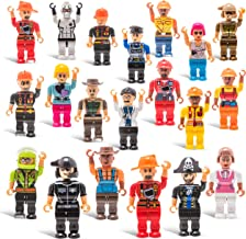 20 Mini Toy Figure Toys - Set for Christmas Stocking Stuffers, X-mas Gifts for Kids, Assortment of Boys and Girls Figurine...