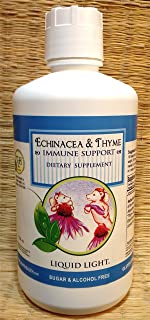 Echinacea & Thyme with Elderberry (32 oz Bottle) - Cold Season & Immune Herbal Remedy. Safe Use Over 20 Years.