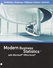 Bundle: Modern Business Statistics with Microsoft Office Excel, Loose-Leaf Version, 6th + MindTap Business Statistics, 2 terms (12 months) Printed Access Card