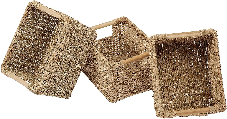 VATIMA Max 54% OFF Small Wicker Baskets Overseas parallel import regular item for Organizing Ba Bathroom Seagrass