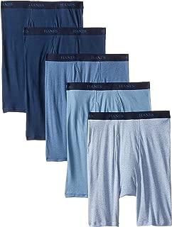Men's 5-Pack Assorted Long Leg Boxer with ComfortFlex Waistband Briefs