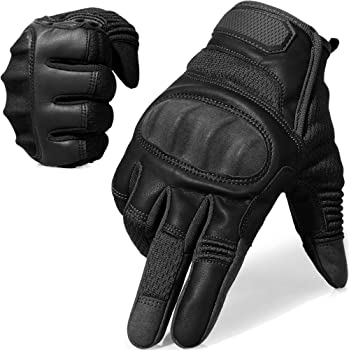 AXBXCX Touch Screen Full Finger Gloves for Motorcycles Cycling Motorbike ATV Bike Camping Climbing Hiking Work Outdoor Sports Men Women Black L