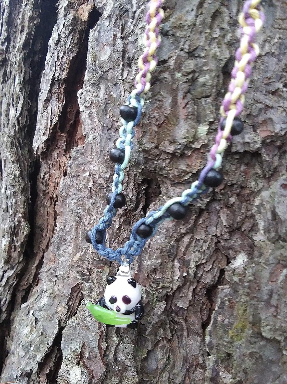 BEACH HEMP JEWELRY Discount mail order Rainbow Albuquerque Mall Panda Choker Handmade Necklace I Bear