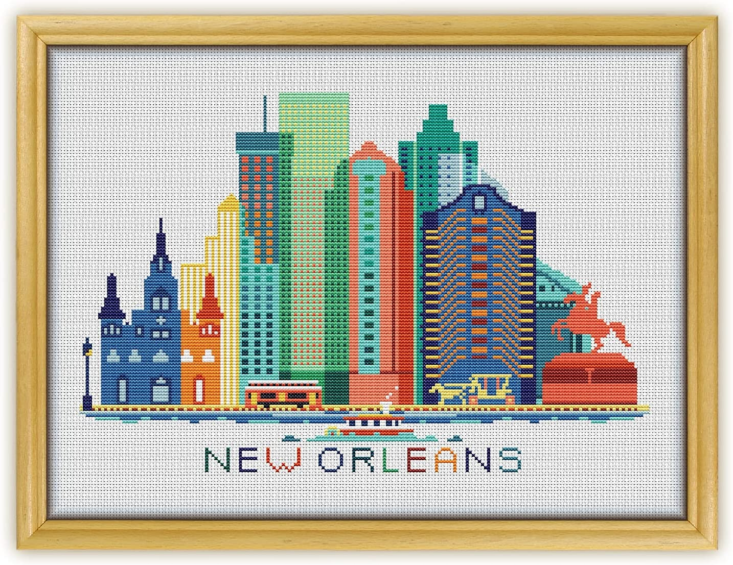 Special price A3 New Orleans Color K374 Mesa Mall Counted KIT#2. Threads Stitch Cross N
