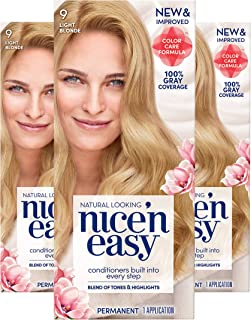 Clairol Nice'N Easy Crème 9 Light Blonde (Pack of 3) (Packaging May Vary)