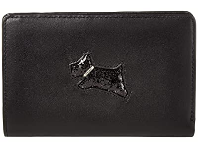 Radley London Heritage Dog Glitter Medium Bifold Purse (Black) Wallet Handbags