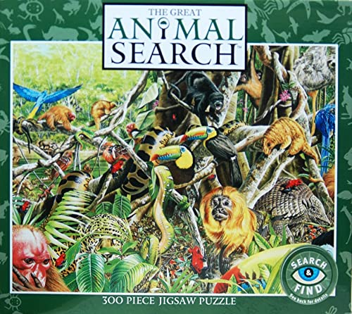 The Great Animal Search 300 Piece Search & Find Jigsaw Puzzle  A Closer Look
