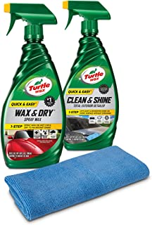 Turtle Wax 50835 Quick & Easy Wax and Detailer Kit with Microfiber Towel, 52. Fluid_Ounces