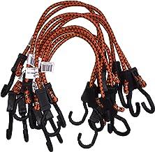 Kotap MABC-24 Cabos elásticos ajustáveis leves para todos os fins, laranja/preto, 61 cm (10 unidades)