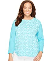 Plus Size Island Batik Catalina Mingle Top