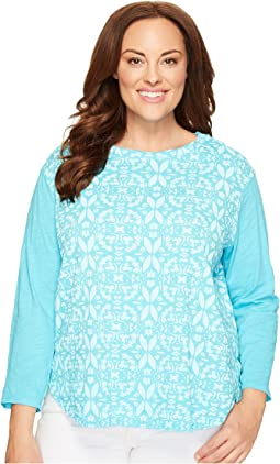Extra Fresh by Fresh Produce - Plus Size Island Batik Catalina Mingle Top